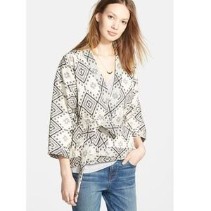 Madewell Kimono Wrap Jacket in Arrowhead